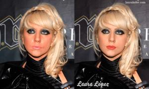 Retocando a Lady Gaga