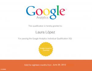 Certificación IQ Google Analytics