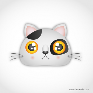 Gato blanco con manchas