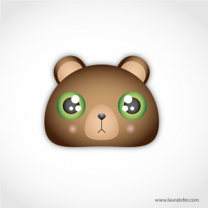 Ilustración vectorial oso