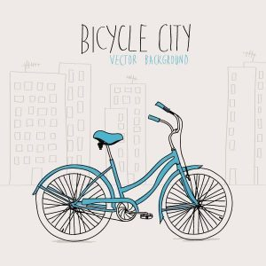 Vector bicicleta urbana