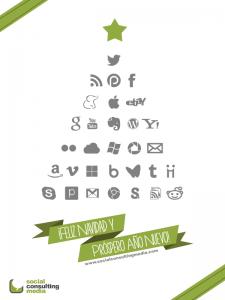 Postal Navidad social consulting media
