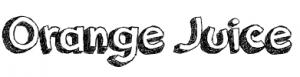 orange juice tipografia cartoon