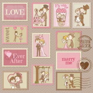 Recursos diseño boda sellos
