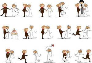 vector-novios-boda-caricatura