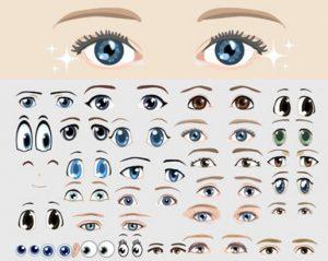 Vectores ojos gratis