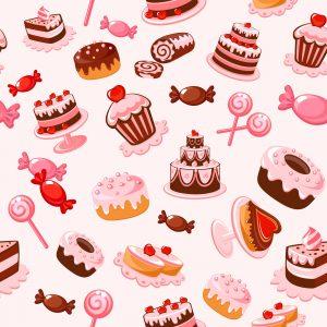 Vectores de cupcakes, tartas y dulces