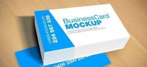 tarjeta visita Mockup PSD