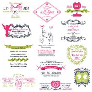vectores invitaciones tarjetas boda