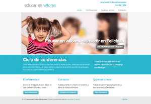 Educar en Valores   Diseño web