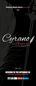 Cartel teatro Cyrano de Bergecac