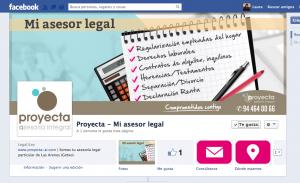 Diseño cabecera facebook proyecta