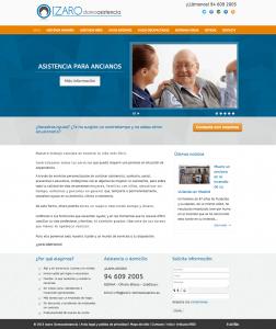 Diseño web Izaro Domoasistencia