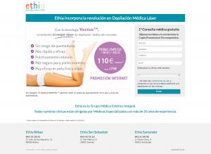 Ethia Diseño landing page