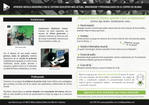 Folleto Play Music School