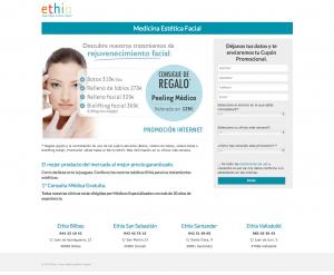 Diseño landing page Ethia