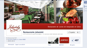 Diseño facebook restaurante jolastoki