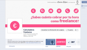 Diseño facebook Calculadora Freelance