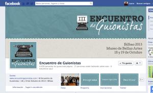 Diseño facebook encuentro guionistas
