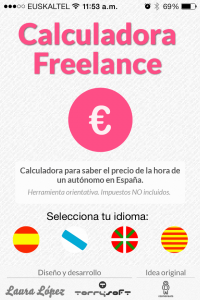 Calculadora freelance app iphone