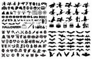 halloween siluetas vector