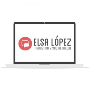 Diseño logotipo Elsa López marketing y redes sociales