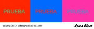 errores al combinar colores
