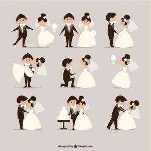 vector invitaciones boda