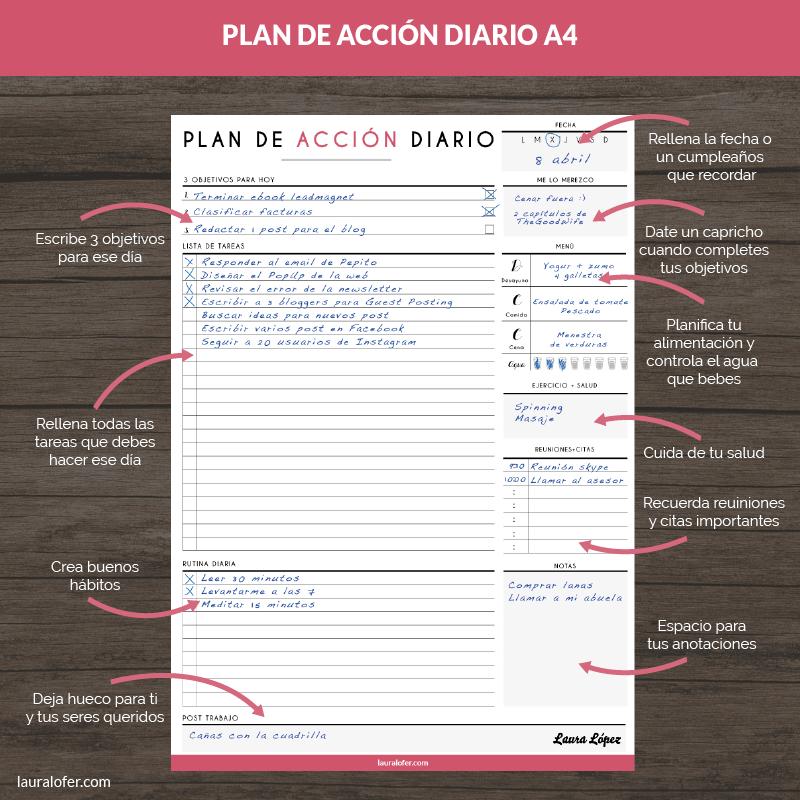 Plan Acción Diario