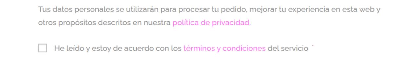 Checkbox politicia de contratación